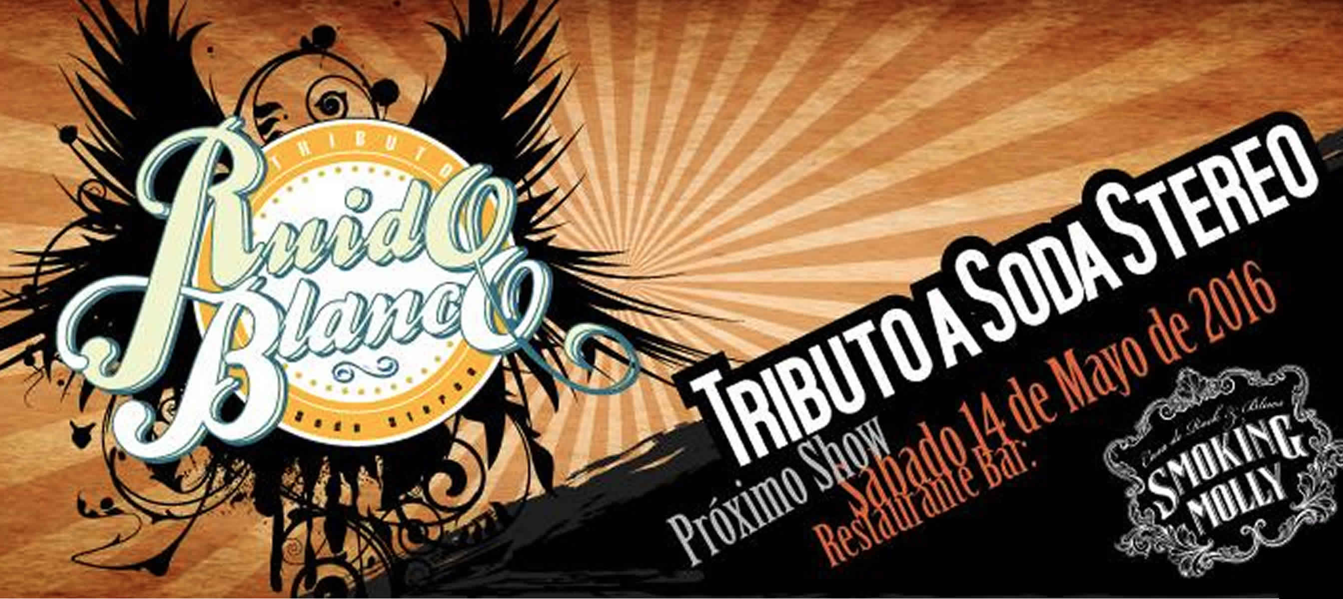 Tributo a Soda Stereo por la banda Ruido Blanco en Smoking Molly
