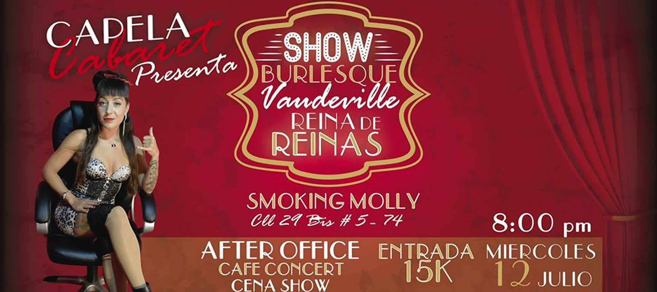 Capela cabaret en smoking molly